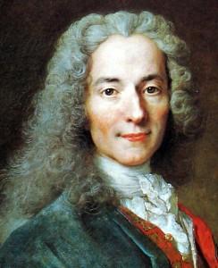Voltaire en 1718